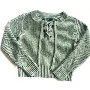 Green Laced Sweater